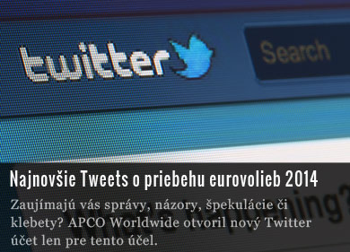 Twitter - voľby do Európskeho parlamentu 2014