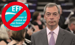 Euroskeptici Nigela Faragea prišli o skupinu v europarlamente